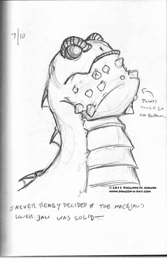 I never really decided if the macejaw's lower jaw was solid-